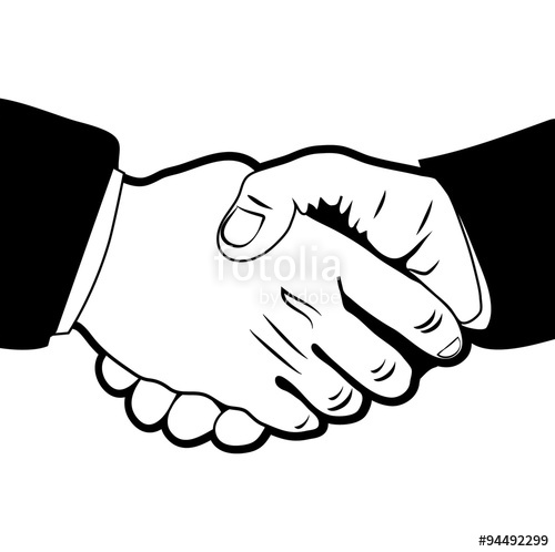500x498 Handshake Symbol,emblem,business Deal Stock Photo And Royalty