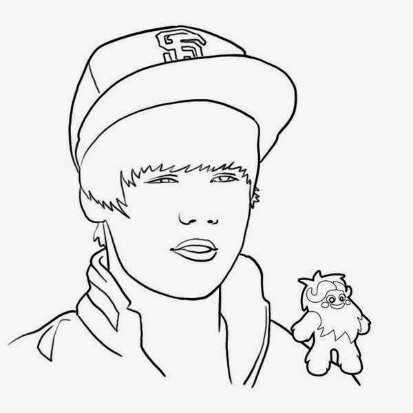 600x600 Activity Handsome Men, Justin Bieber Coloring Pages New Coloring