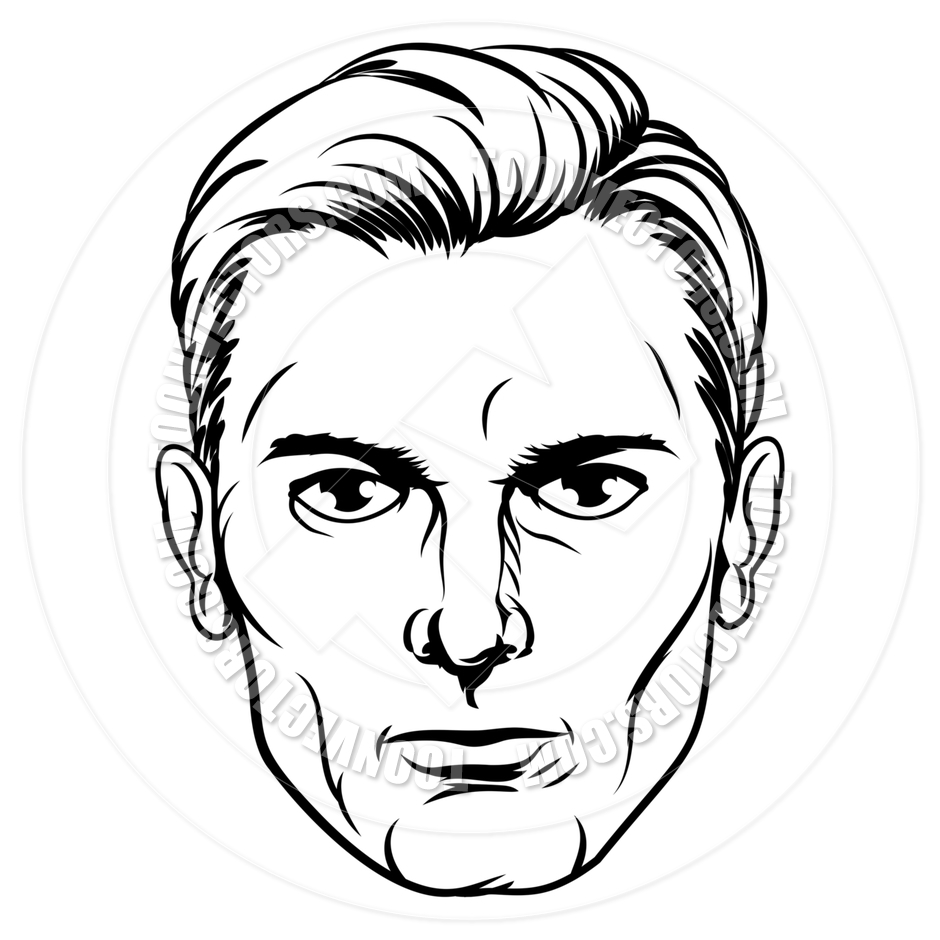 940x940 Handsome Man's Pop Art Face By Geoimages Toon Vectors Eps