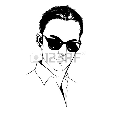 450x450 Illustration Portrait Of A Handsome Young Man On White Background