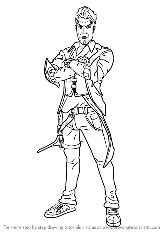 567x800 Learn How To Draw Handsome Jack From Borderlands (Borderlands