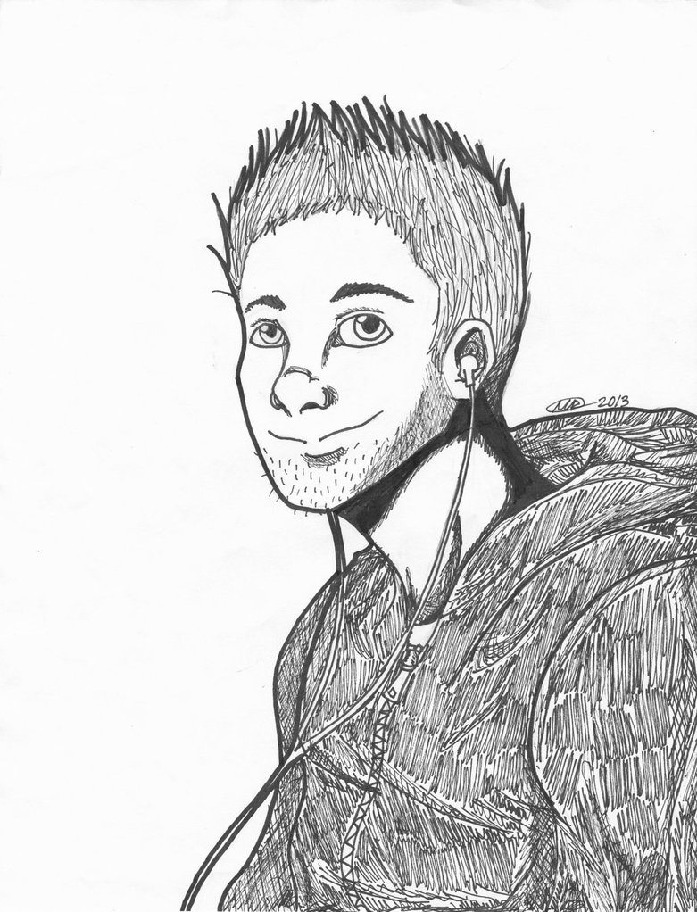 781x1022 Random Guy Drawing 2013 By Leafears5838