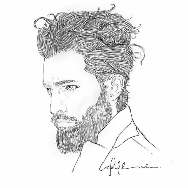 640x640 Art Man Drawing Beard On Instagram