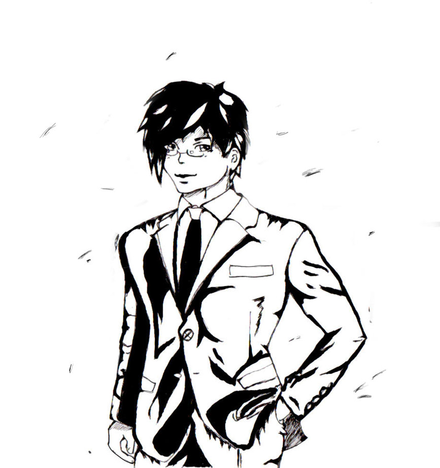 866x922 Other Handsome Guy Business Suit Inked By Fearprototype