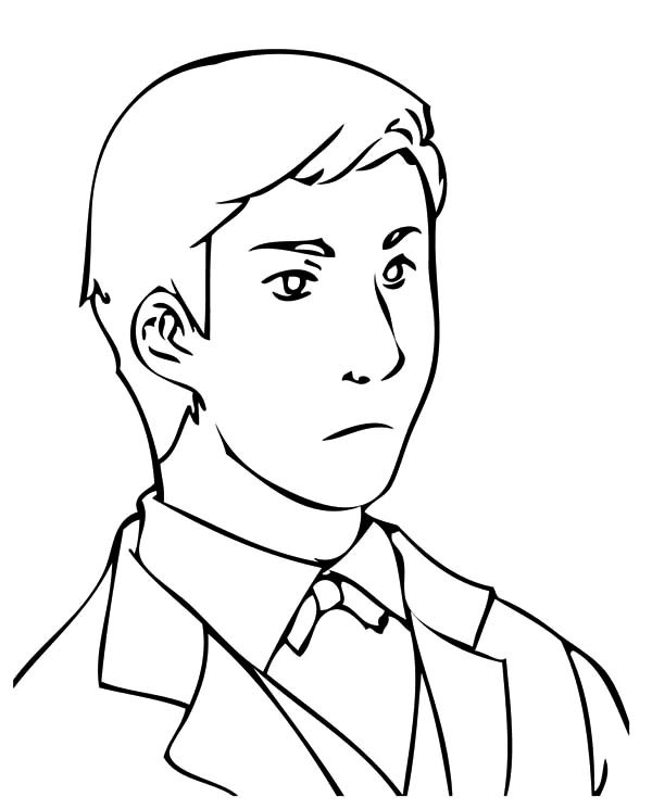 600x745 Handsome Business Man Coloring Pages Best Place To Color