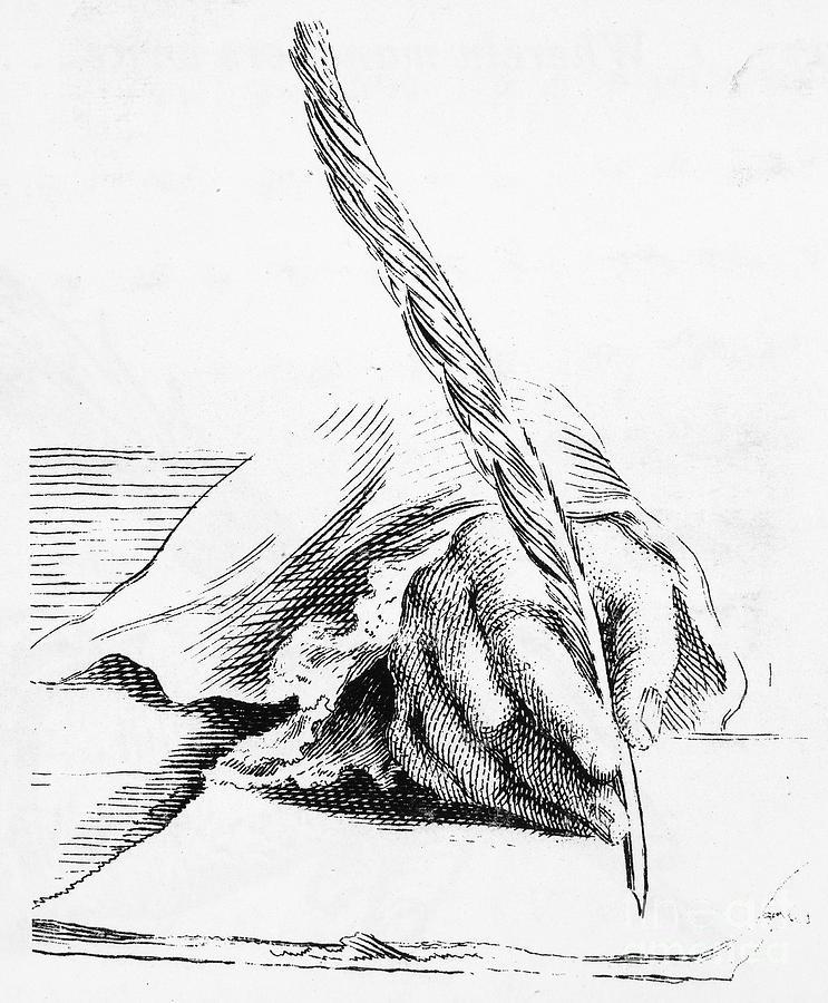 743x900 Handwriting Quill Pen Photograph By Granger