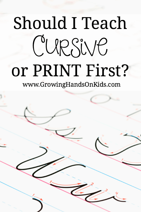 600x900 Should You Teach Print Or Cursive Handwriting First
