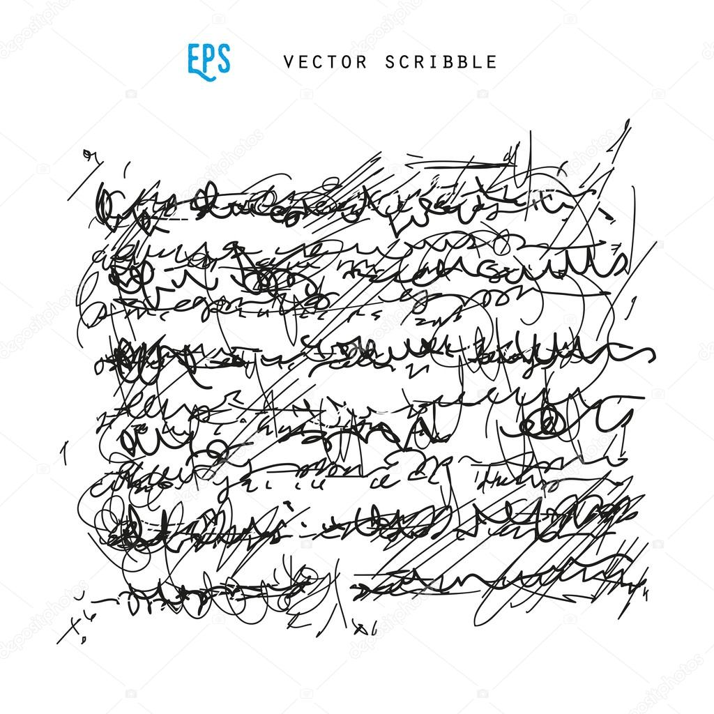 1024x1024 Unidentified Abstract Handwriting Scribble Stock Vector