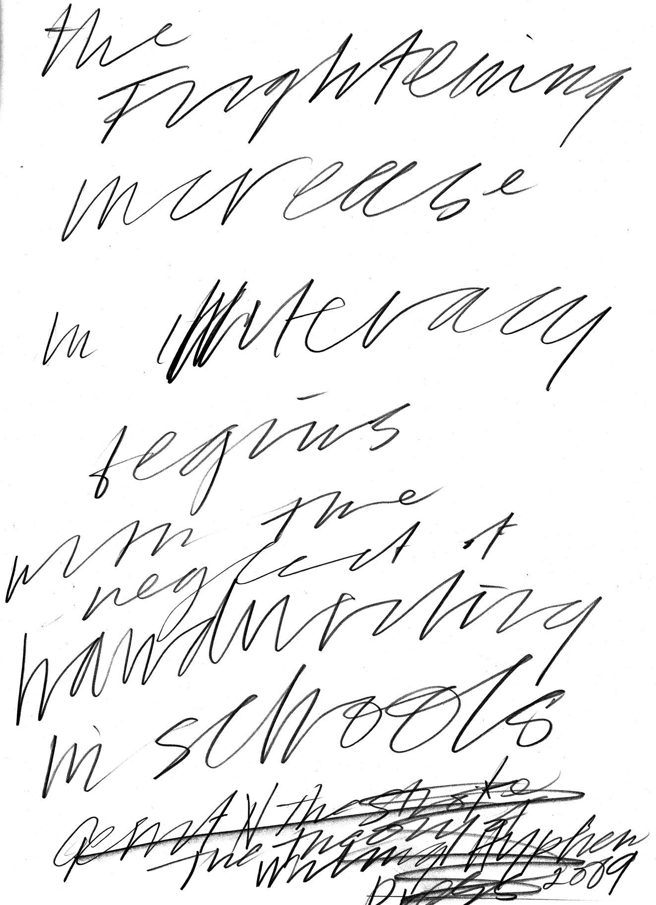 1323x1827 Writing As Drawing Mike O'Shaughnessy