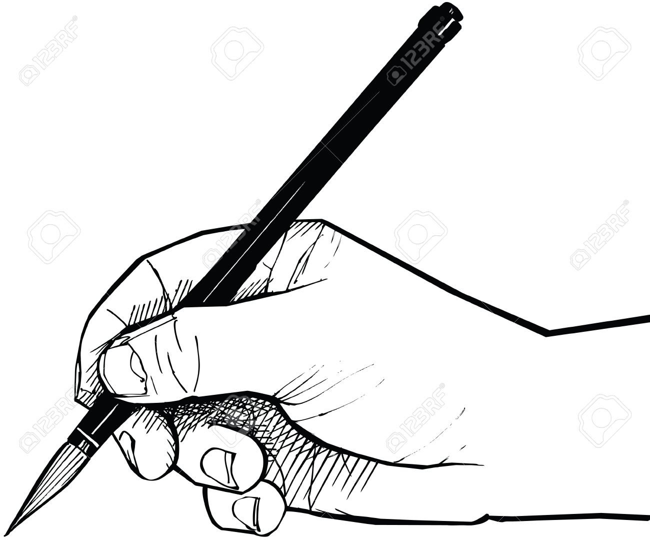 1300x1079 A Hand Drawing With A Chinese Brush Stock Photo, Picture