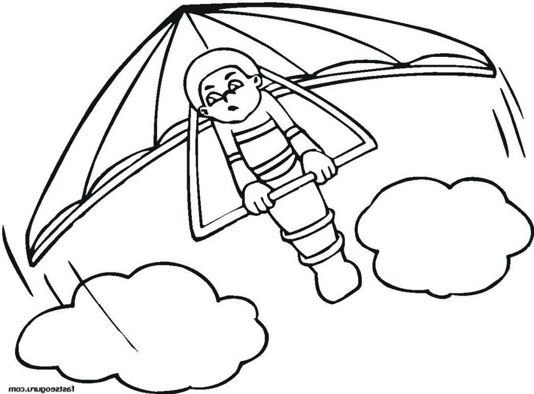 1048x774 Deltavlieger Coloring Pages Hang Glider Print Out Printable 458753