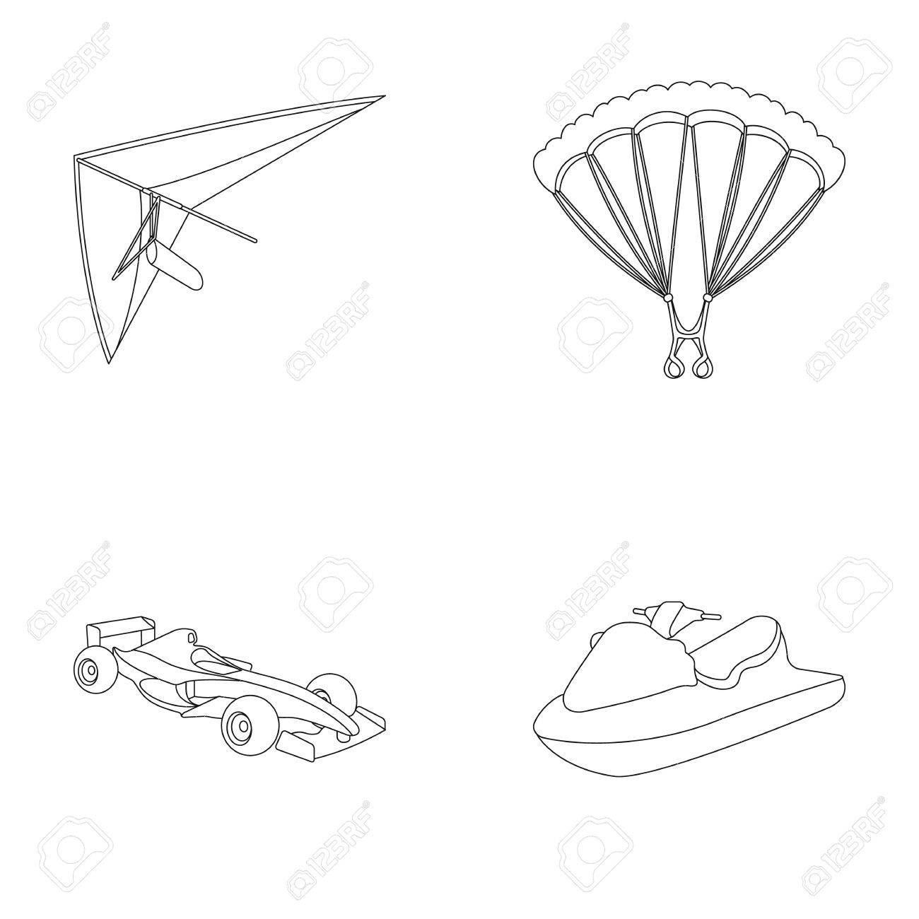 1300x1300 Hang Glider, Parachute, Racing Car, Water Scooter.extreme Sport