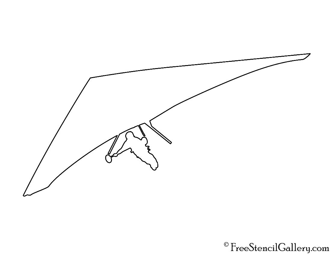 1100x850 Hang Glider Silhouette Stencil Free Stencil Gallery