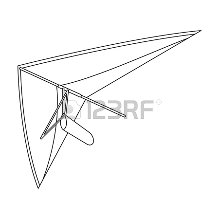 450x450 Hang Gliding Extreme Sport Single Icon In Outline Style Vector