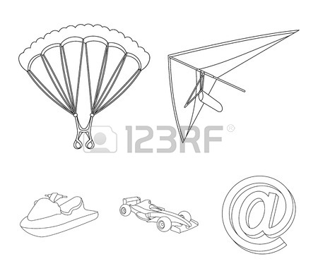 450x394 846 Hang Glider Stock Illustrations, Cliparts And Royalty Free