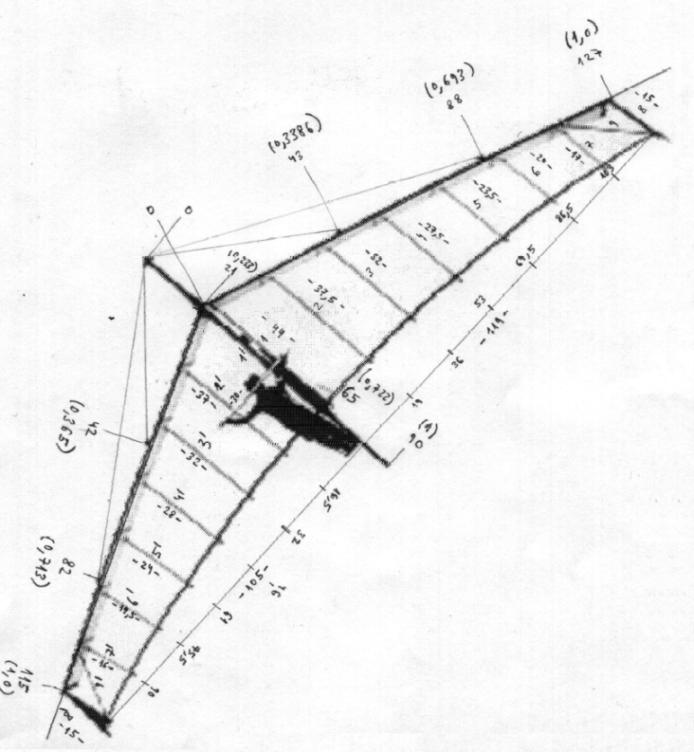 694x752 Hang Glider Drawing