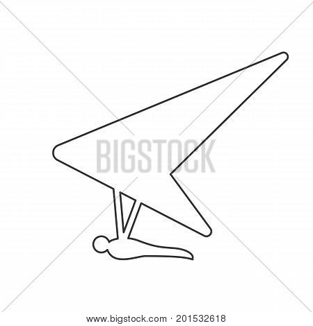 450x470 Black Outline Icon Hang Glider On Vector Amp Photo Bigstock
