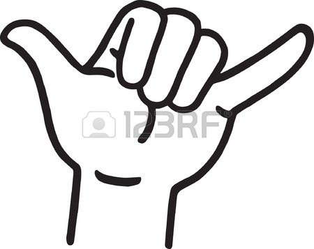 450x357 Hang Loose Hand Signal Royalty Free Cliparts, Vectors, And Stock