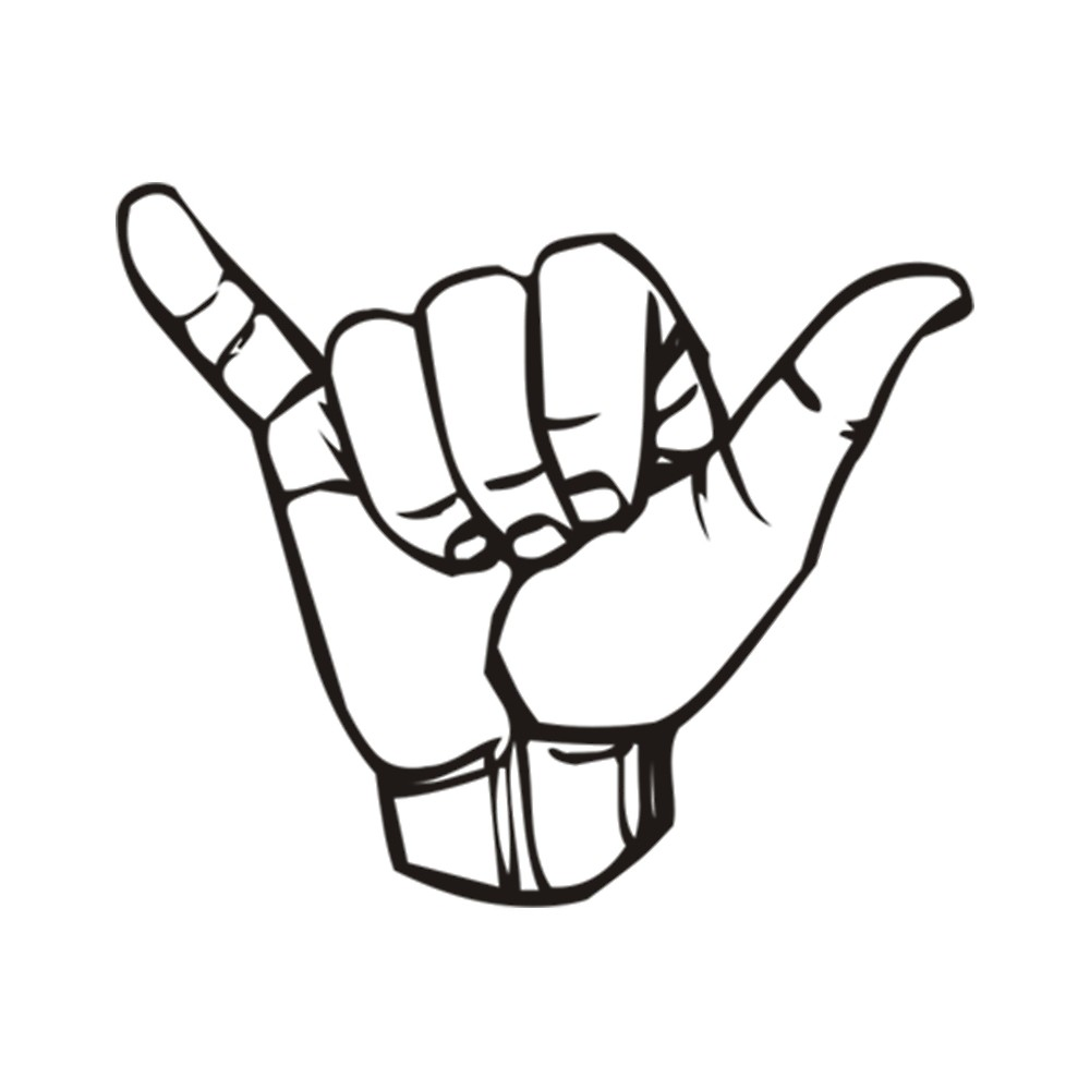 1000x1000 Hang Loose By Pairofdocx Redbubble