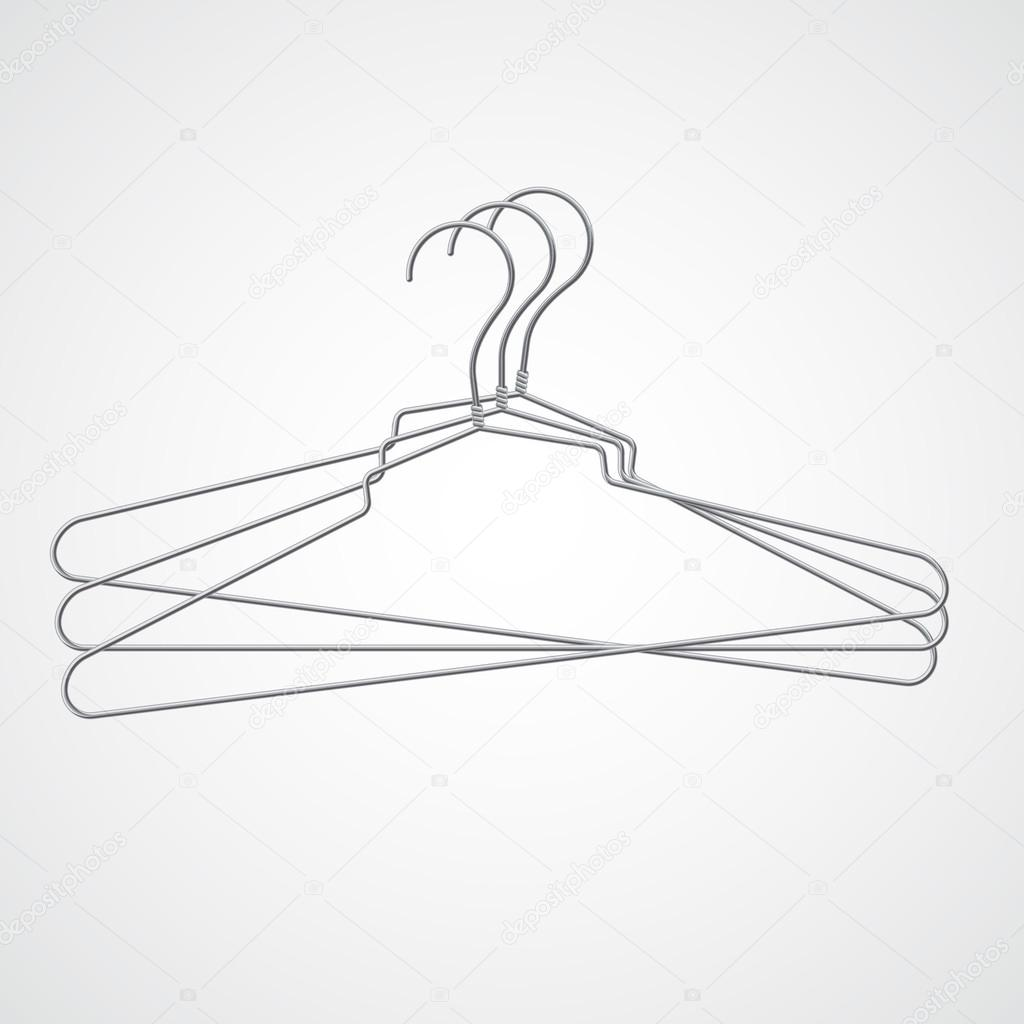 1024x1024 Set Of Metal Hanger Stock Vector Punsayaporn