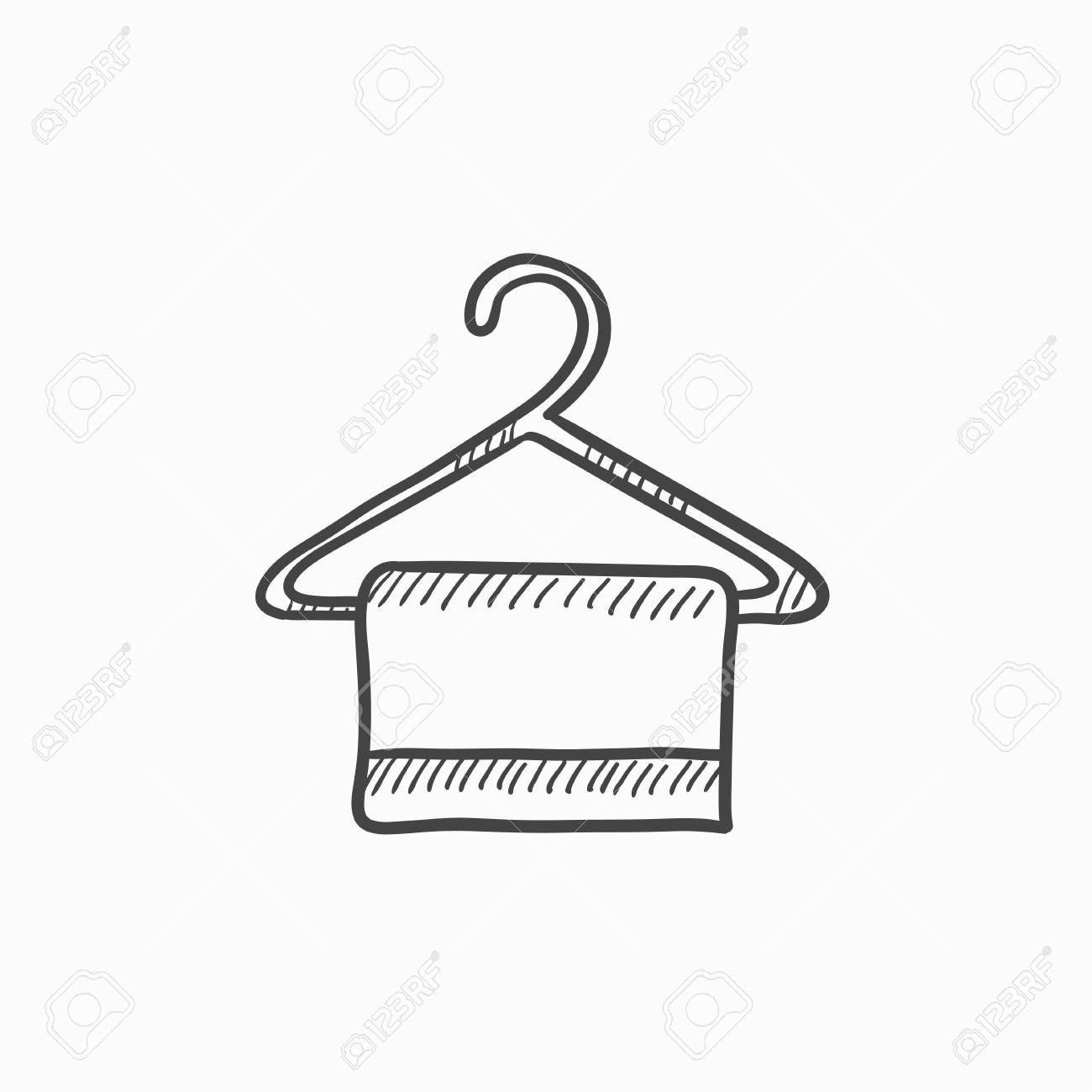 1300x1300 Towel On Hanger Vector Sketch Icon Isolated On Background. Hand