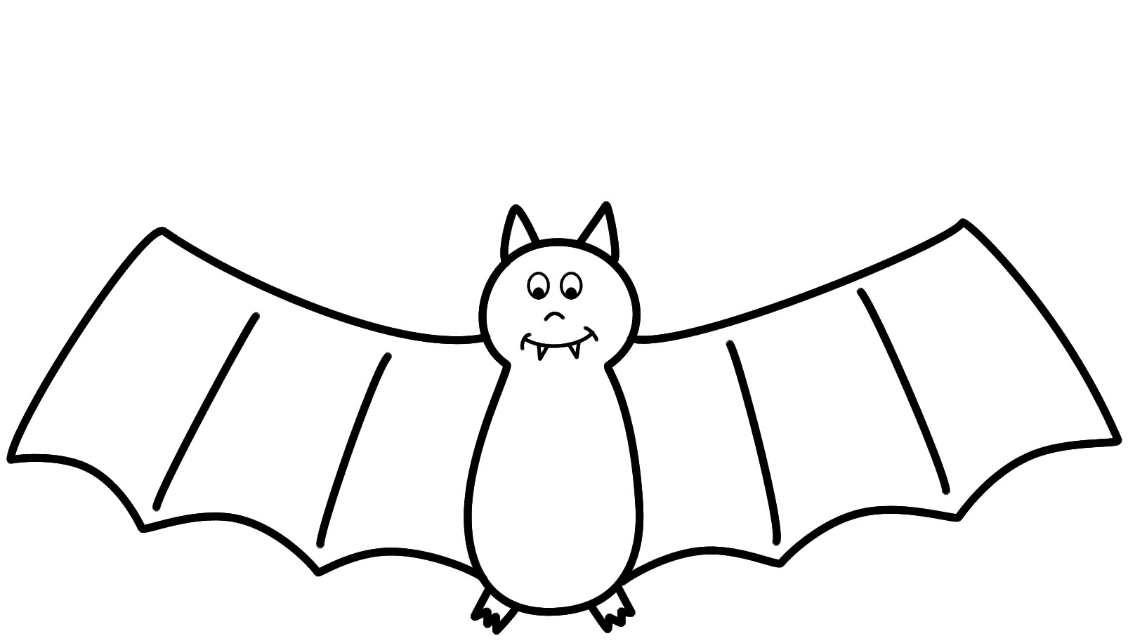 1606x916 Download Coloring Pages Draw A Bat