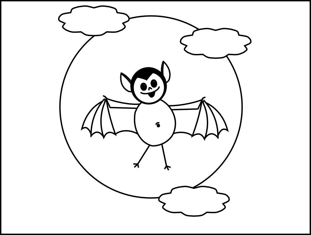 1024x775 Fascinating Bat Coloring Pages To Print Printable Image For Style