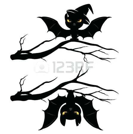447x450 Hanging Bat Silhouette Pin Drawn Bat Upside Down 9 Hanging Bat