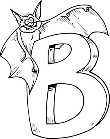 379x480 Letter B Is For Bat Coloring Page Free Printable Coloring Pages