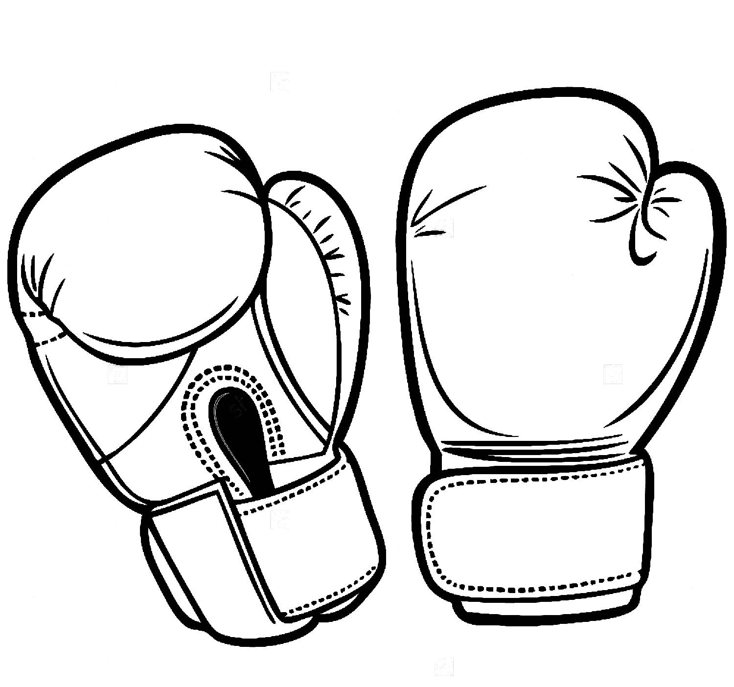 1500x1404 Boxing Gloves Easy Drawing