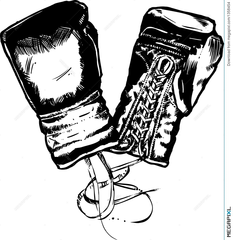 779x800 Boxing Gloves Vector Illustration Illustration 1358454