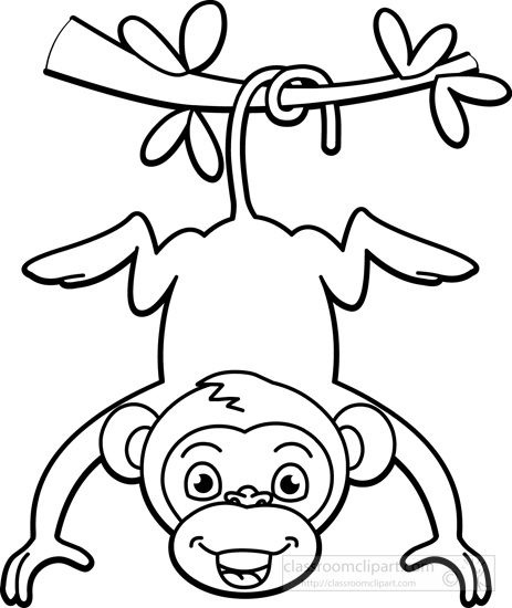463x550 Hanging Monkey Clipart Black And White Letters Example
