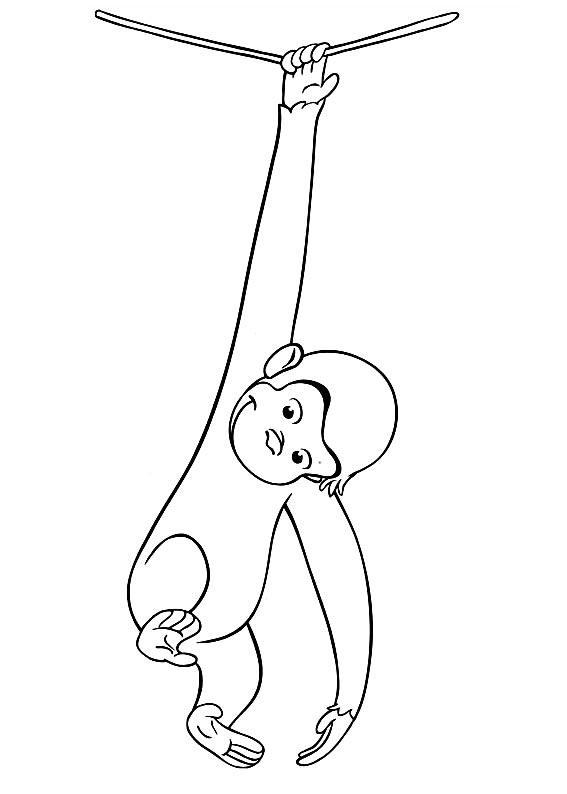 567x794 Curious George Hanging On A Rope Printables