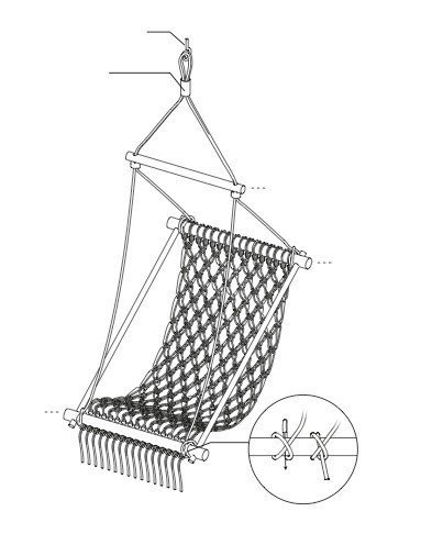 393x496 Hanging Chair Extract From Diy Furniture 2 By Christopher Stuart