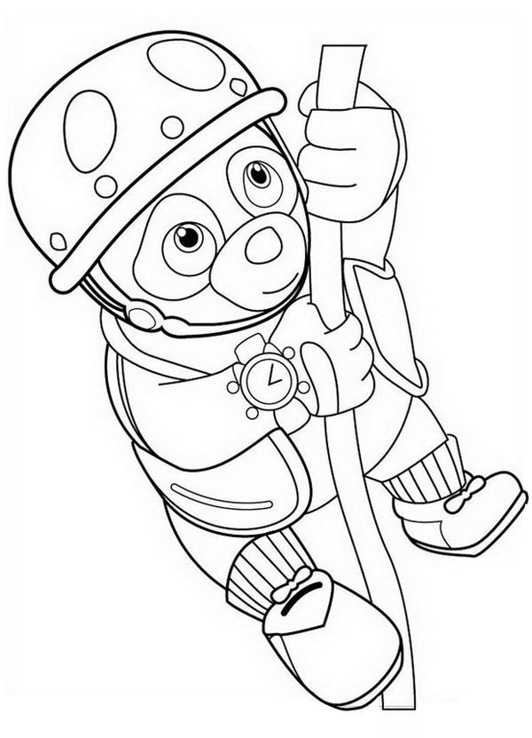 600x831 Special Agent Oso Hanging On Rope Coloring Page