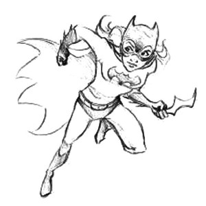 300x300 Batgirl Hanging On Rope Coloring Pages Best Place To Color