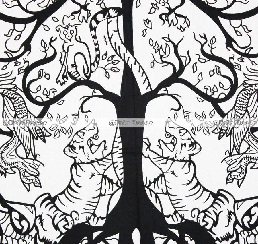 900x850 Forest Life Tree Wall Hanging Tapestry