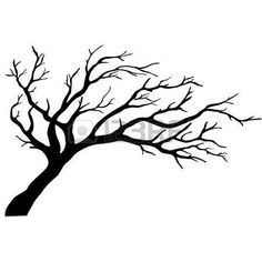 236x236 Leafless Tree Silhouette . To Paint In The Bathroom And Put Hooks
