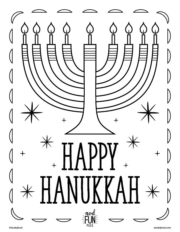 Impeccable image within hanukkah coloring pages printable
