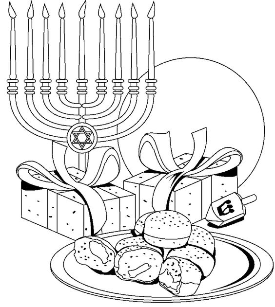 564x631 Free Printable Hanukkah Coloring Pages For Kids