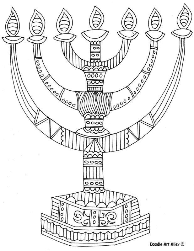 618x800 8 Of The Best, Most Artful Hanukkah Coloring Pages Menorah