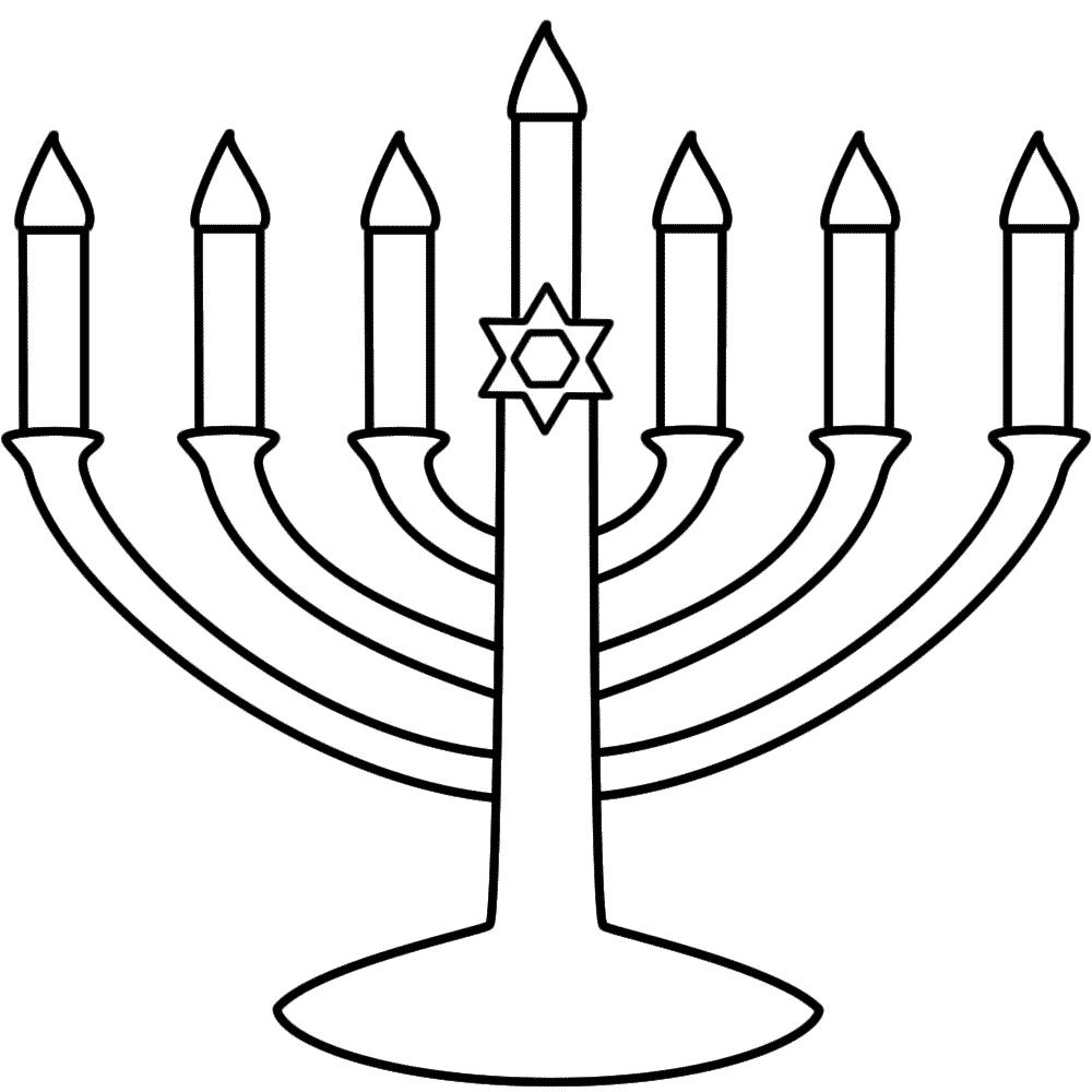 1000x1000 Hanukkah Coloring Pages
