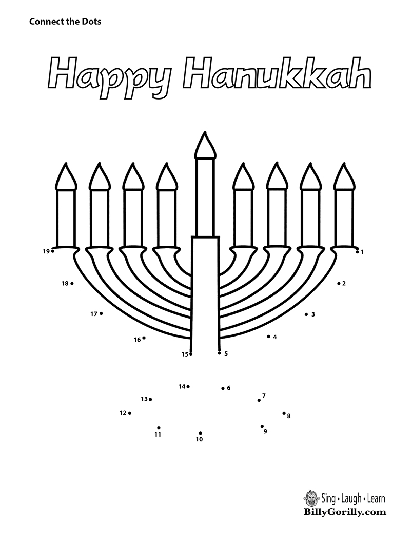 803x1039 Happy Hanukkah Menorah Dot To Dot Sing Laugh Learn