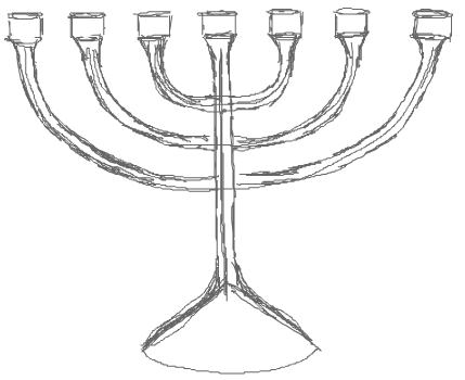 429x350 How To Draw Hanukkah Menorahs With Easy Step By Step Drawing