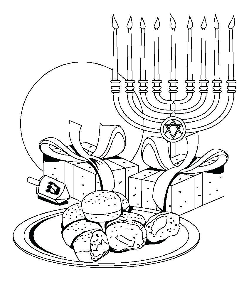 848x970 Coloring Happy Hanukkah Coloring Pages