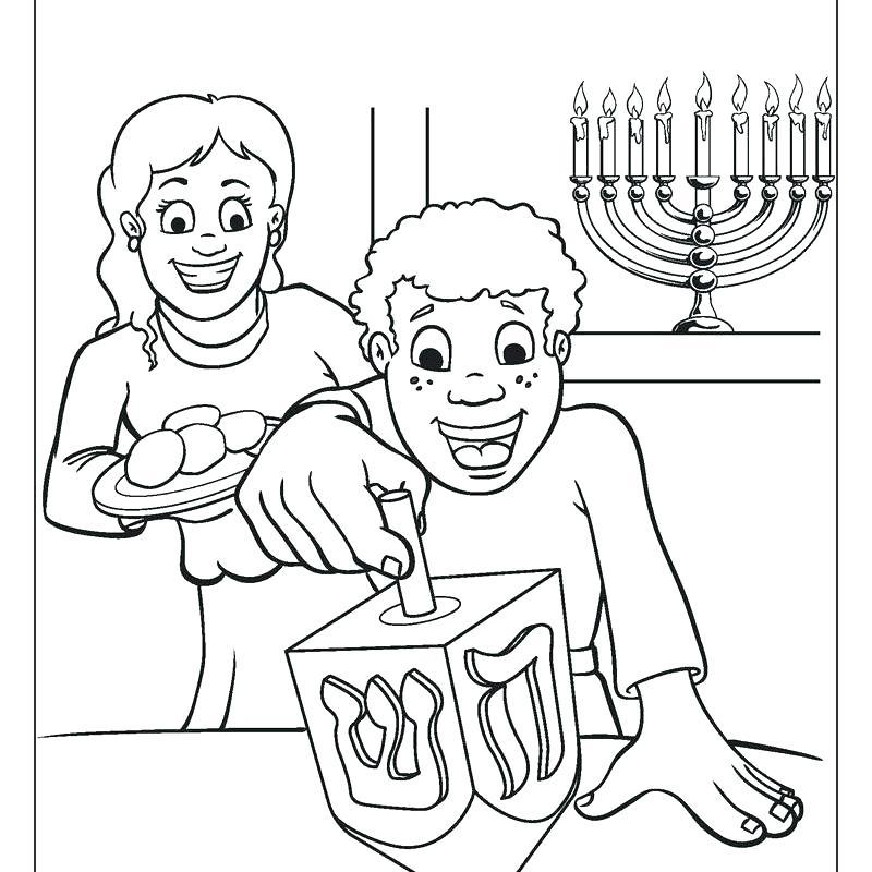 800x800 Hanukkah Printable Coloring Pages