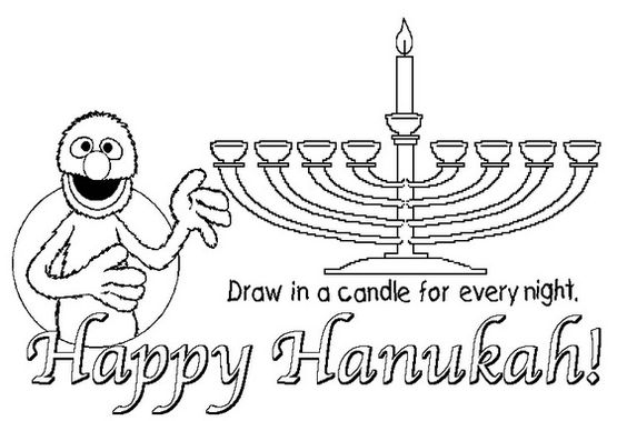 564x379 Hanukkah Coloring Pages Menorahs