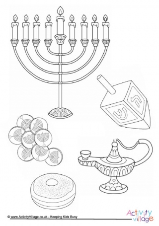 320x455 Hanukkah Colouring Pages