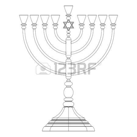 450x450 Menorah Hanukkah Lamp Which Is Lit During The Eight Days
