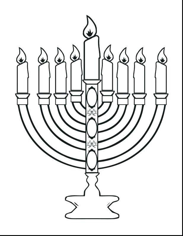 618x796 This Is Menorah Coloring Page Pictures Happy Coloring Page